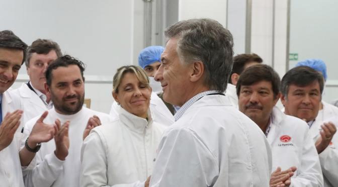 Macri visitó La Pompeya, uno de los tres frigoríficos que exportará cerdo a China