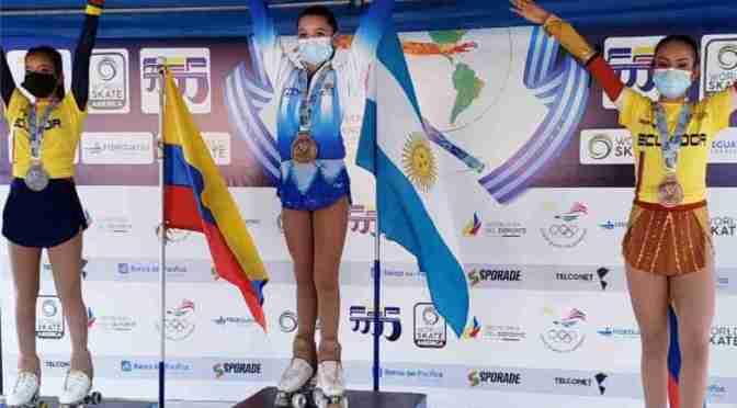 Martina Abreu Campanario, campeona panamericana de Patín, orgullo de Marcos Paz