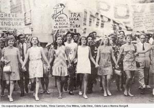 1968 protesto contra ditadura e nossas artistas