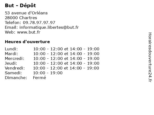 ᐅ horaires d ouverture but depot