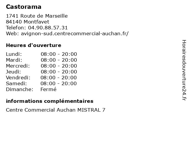 ᐅ horaires d ouverture castorama
