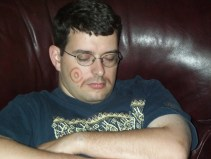 Barry sleeping with makeup on his face