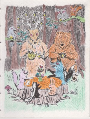 Forest Critters Tea Time