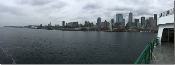Downtown Seattle from Ferry
