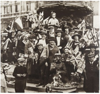 Victory celebrations in London in 1919