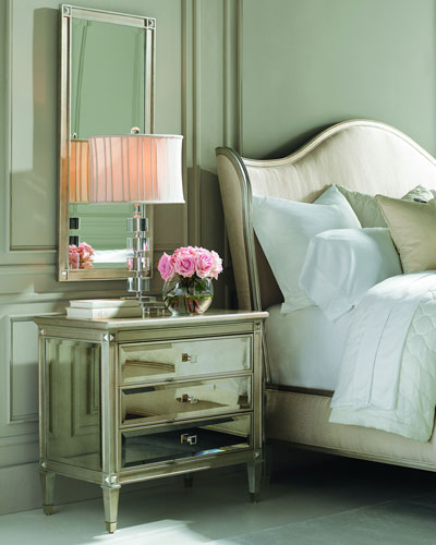 antiqued mirrored bedroom furniture