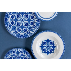 porland huma mavi 32 parca 6 kisilik yemek takimi - Horebica