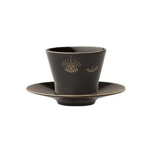 Porland Night Magic Tabaklı Kahve Fincanı 80 Cc Bardaklar