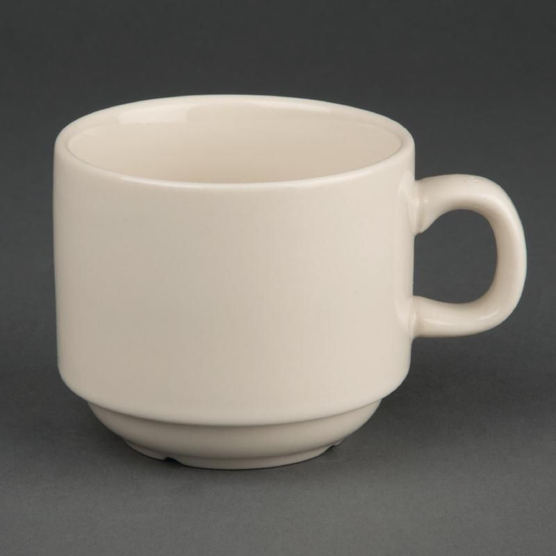 olympia ivory stackable coffee cups 206 ml