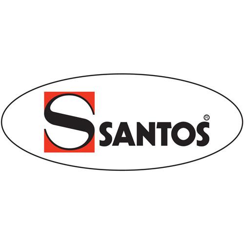 Illustratie: afbeelding van het logo van Santos. Santos maakt apparaten voor in de keuken en achter de bar.