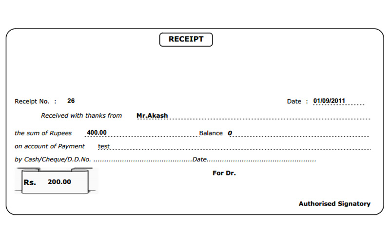 Received Template payment received thank you letter format sample – Payment Received Receipt Template