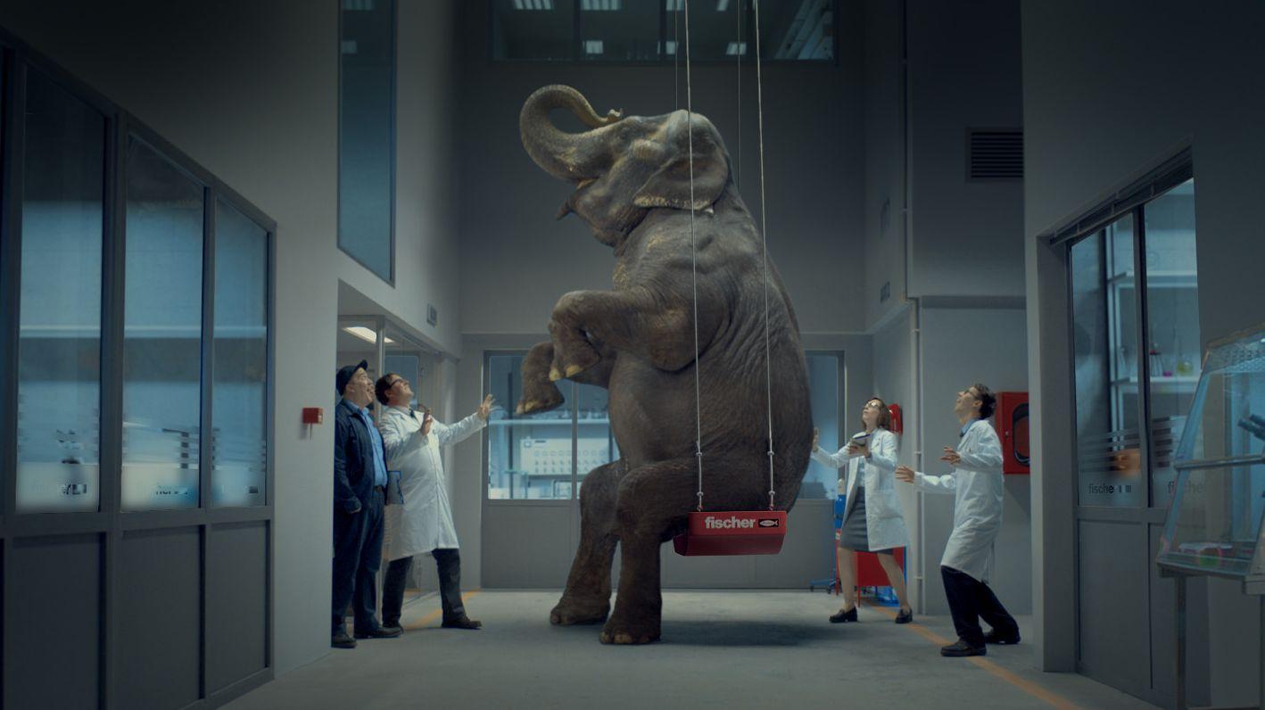 Fischer Dbel Scholz Amp Friends Setzt Einen Elefanten Auf