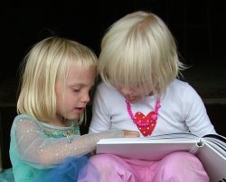 Children reading a book, already a thing of the past?