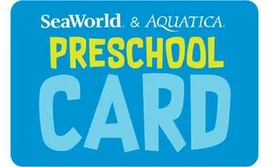SeaWorld Preschool Card