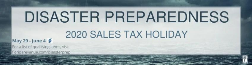 Florida Hurrican Sales Tax Holiday Banner