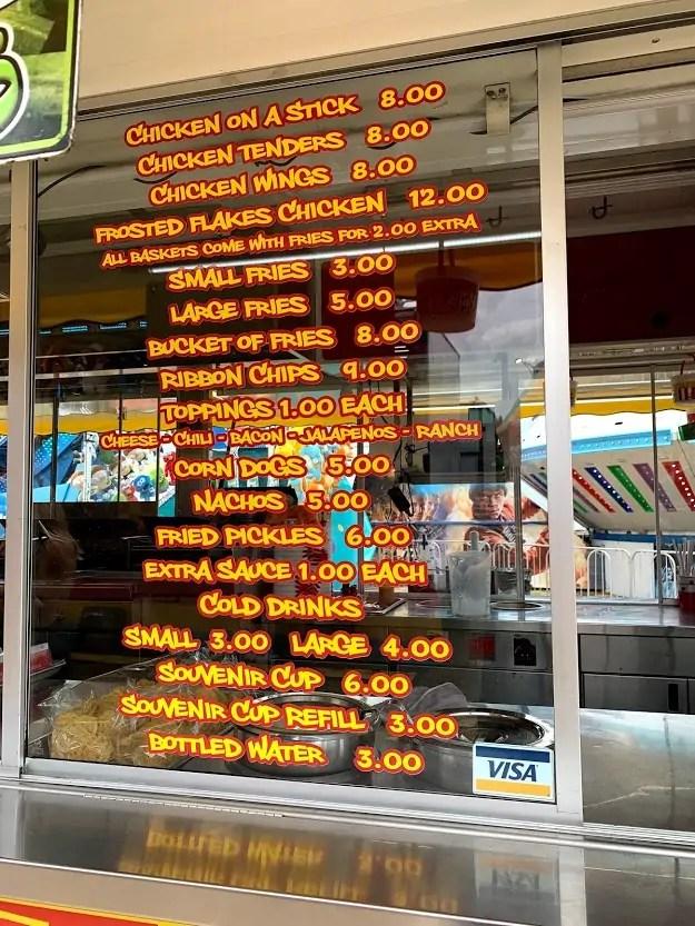 Hamlin Fair Food Prices