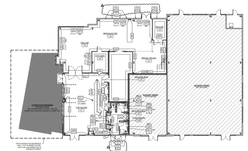 Home State Brewing Floor Plan