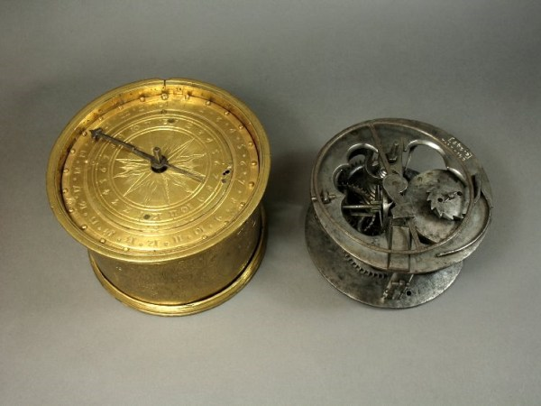pring-driven table clock, made by anon. in (probably) Germany, c.1560