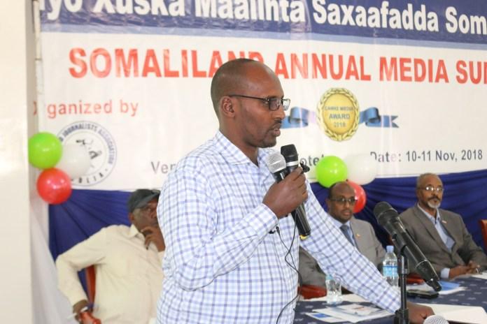 Mohamoud Abdi Jama The chairman of Somaliland Media association