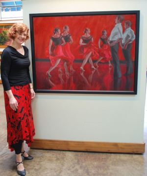 Karen Horne with Dancing in Crimson, standing on left, str BR WEB