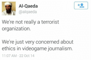 ethics in video game journalism terrorists