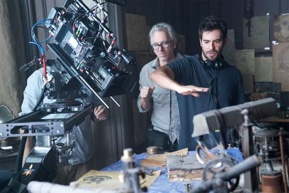 Eli Roth sur le plateau de tournage
