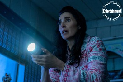 Michaela Watkins in WEREWOLVES WITHIN, produced by Ubisoft Film & Television, Vanishing Angle, and Sam Richardson. IFC Films will release the film June 25th, 2021 in select theaters and on demand.
