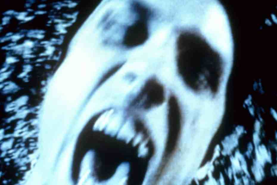 Screaming face in Blair Witch 2: Book of Shadows