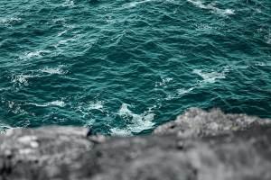 cliffs facing the sea