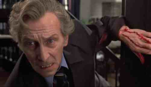 Pater Cushing as Professor Lorrimer Van Helsing in Dracula AD 72