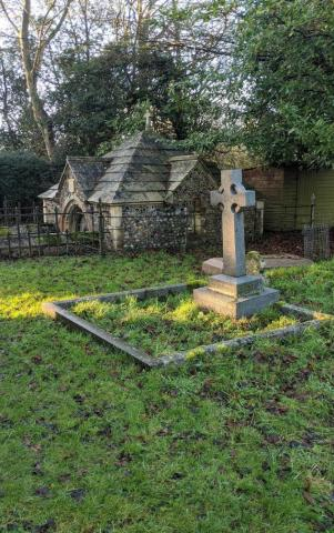 The mausoleum and the grave of Edward Fitzgerald