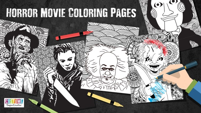Printable Horror Movie Coloring Pages Horrorfix