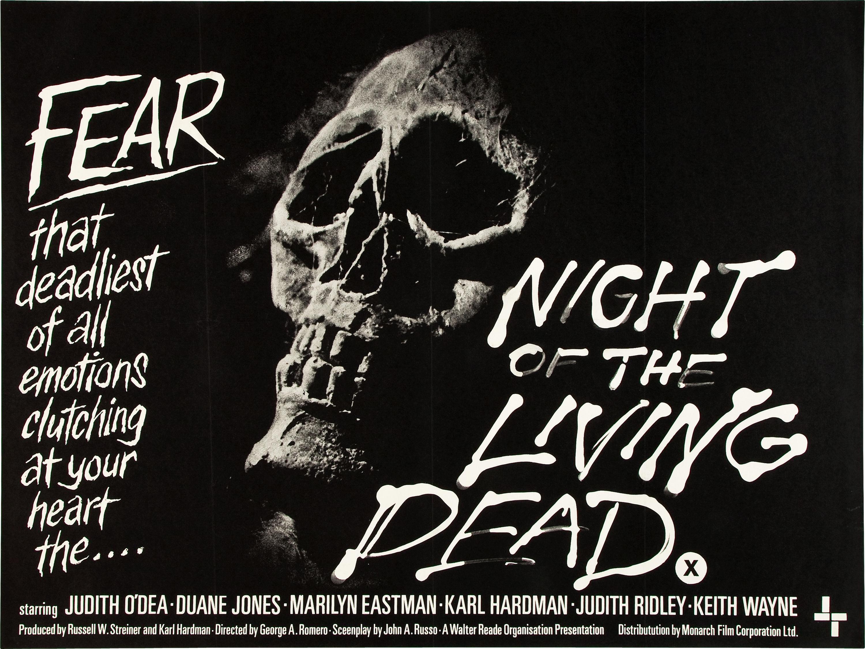 Night of the Living Dead British Quad Poster
