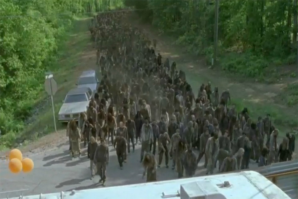 5. TWD zombies and alexandria