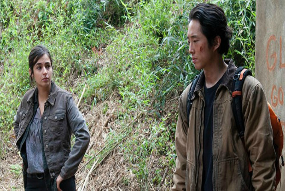 Tara's relationships with heterosexual males, most notably  Glenn (shown above) and Eugene, receive substantially more airtime than her romantic relationships.