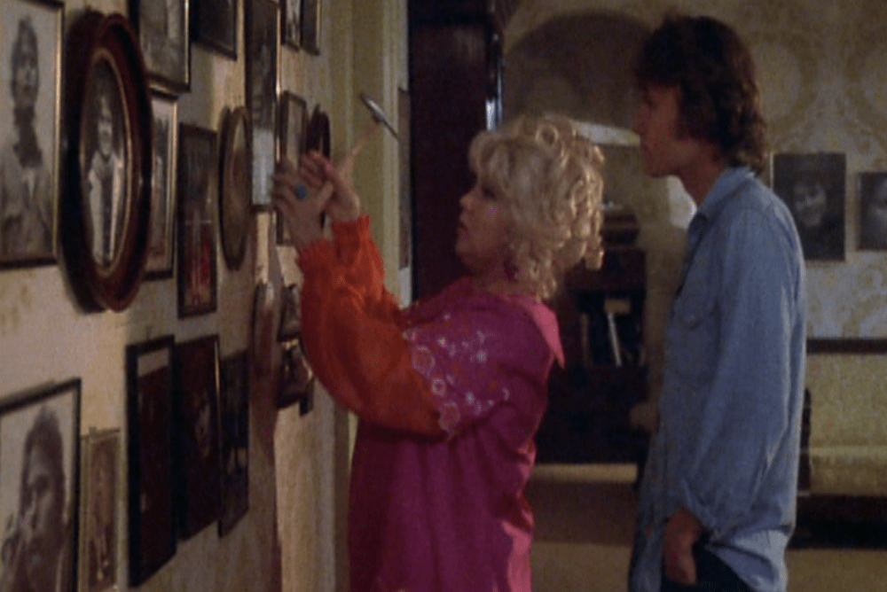 Terry's mother adorns her walls with images of Terry some of which she takes by sneaking up on him in the shower
