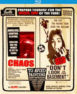 'Chaos' and 'Don't Go in the Basement' Double Feature Available on Blu-ray and DVD February 13th