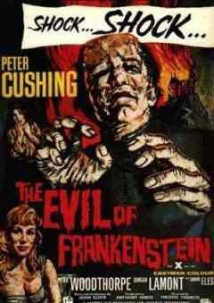 The Evil of Frankenstein movie poster