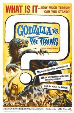 Godzilla vs The Thing movie poster