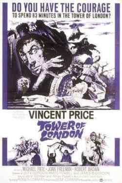 Tower of London 1962 movie poster