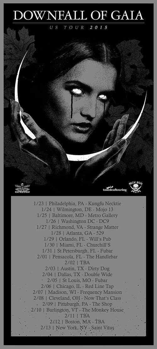 Downfall of Gaia 2015 tour