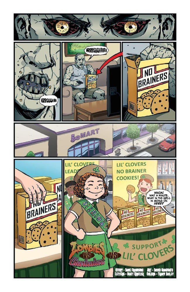 Comic Crypt: Zombies Vs Cheerleaders - St. Pattys Day
