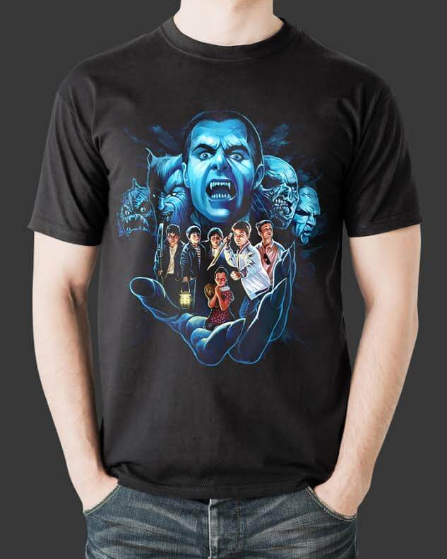 "Fright-Rags offers up a ""Double Dekker"" of 'NIGHT OF THE CREEPS' & 'MONSTER SQUAD' tees!"