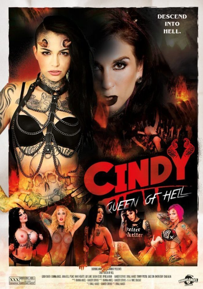 """Burning Angel Just Released A New Horror Themed Adult Film – 'Cindy, Queen  of Hell"""""""