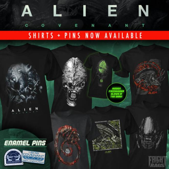 Alien: Covenant & They Live collections on sale now at