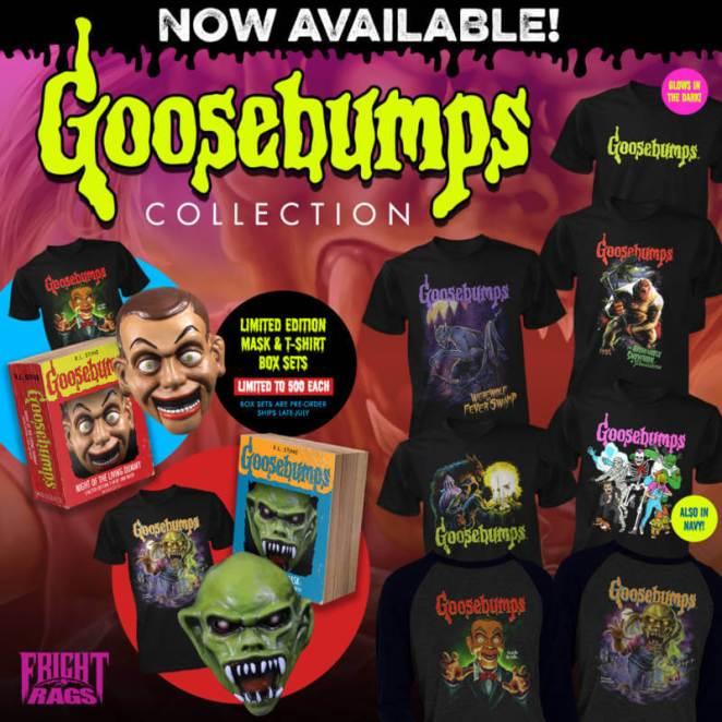 R L  Stine's Goosebumps limited edition masks & shirts on