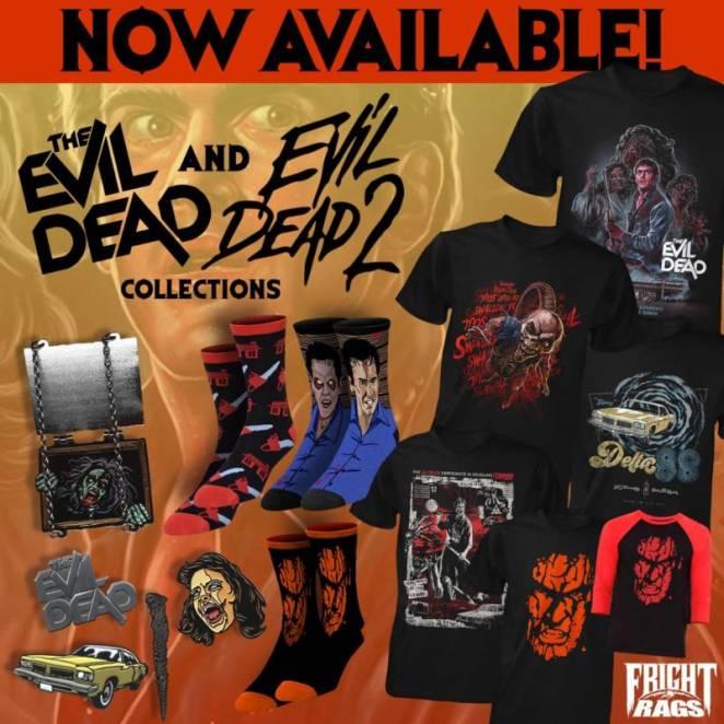 Evil Dead/Evil Dead 2, House/House II, The Warriors apparel