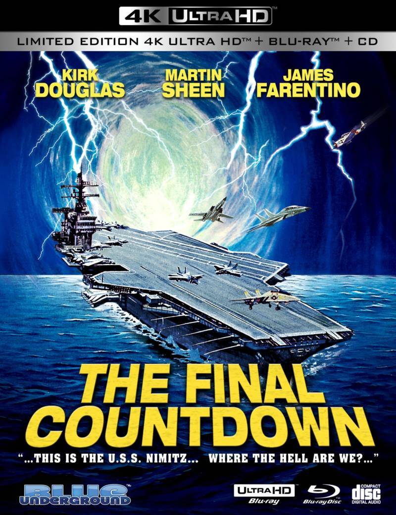 THE FINAL COUNTDOWN (3-Disc Ltd Ed/4K UHD + Blu-ray + CD) Coming This April from Blue Underground | Horror Society