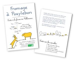 Fromage de chèvre et brebis // Flyer