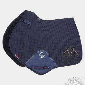 Horse Cleaning ProSport Close Contact Saddle Pad Navy And Gold Logo